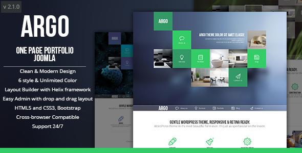 Argo Onepage Bootstrap Metro Ui Joomla Template Jlv Extension
